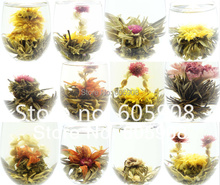 12 kinds blooming tea/Art tea  free shipping!