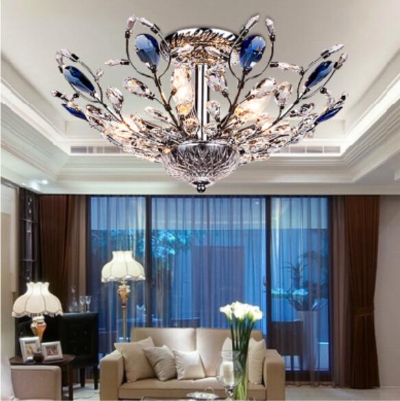 Modern stylish low-key luxury bedroom, living room ceiling light crystal light peacock lamp led(China (Mainland))