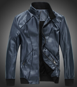 Mens Leather Jacket Top Fashion Conventional 2015 New Style Men's Popular Handsome Plus Warm Size M-5xl Mwj650 - 520JIA store