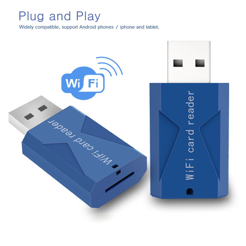 Wifi USB Smart Card Reader Wifi TF Micro SD Card Reader Extended Phone Memory Wireless Storage Flash Drive(China (Mainland))