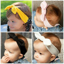 Buy cute baby hair band girls pure rabbit ears knotted rope Fashion Baby Girl Headbands Cute Rabbit Ears Bow Hair Bands Baby for $1.23 in AliExpress store