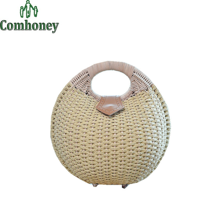 Women Girls Summer Beach Handbags Next Tote Hand Bags for Women Straw Bags Casual Handmade Woven Rattan Bags Bolsa Feminina(China (Mainland))