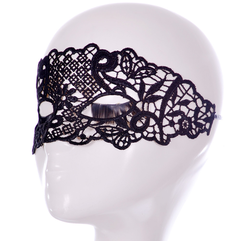 Lattice Leaf Chinese Style Elegant Mask Masquerade Party Supplies Black Hollow Sexy Lace Mask For Ladies Free Shipping(China (Mainland))