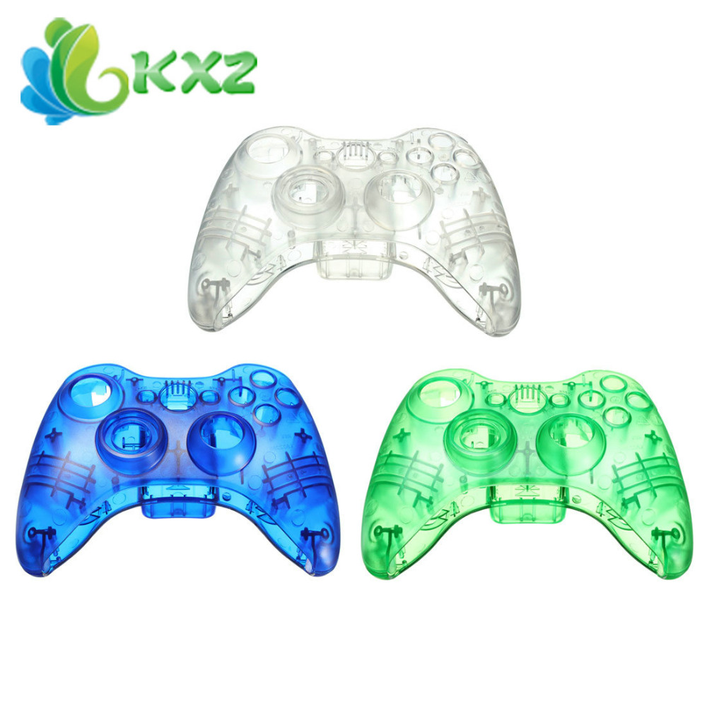 Transparency Plastic Shell Wireless Controller for Xbox 360(China (Mainland))