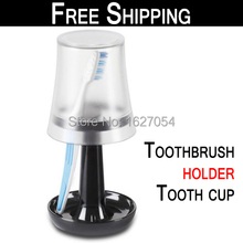 Free Shipping!Fashion Toothbrush holder tooth cup Set  bathroom Plastic Tooth Case Cover Holder Bathroom Sets wash gargle suit(China (Mainland))