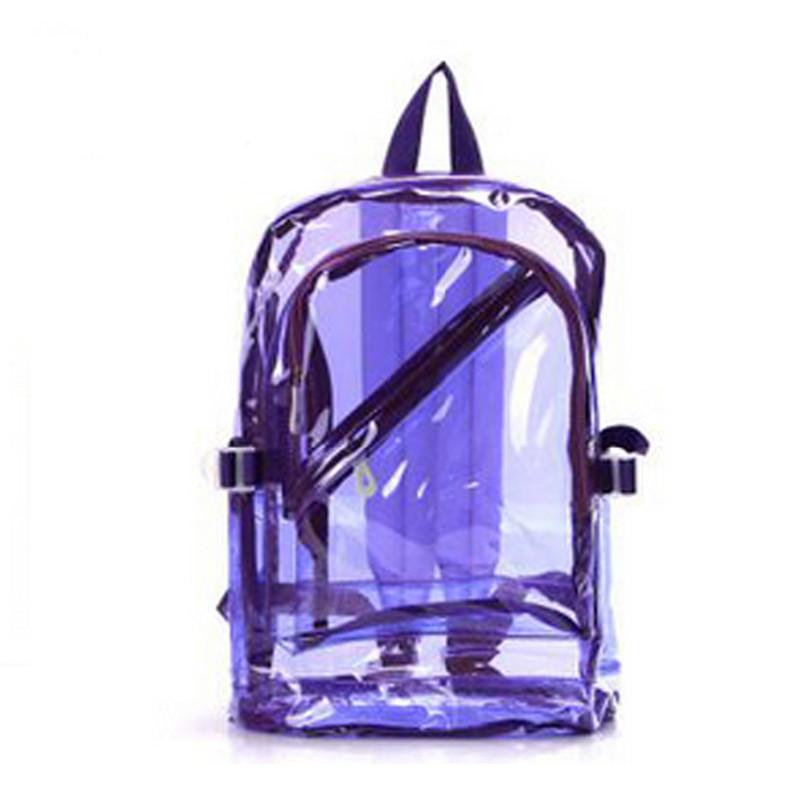 Women Girl Boy Fashion Transparent Clear Backpack/Plastic Student Bag Korean Bag/School Book Leisure Shoulder Bags Purse(China (Mainland))