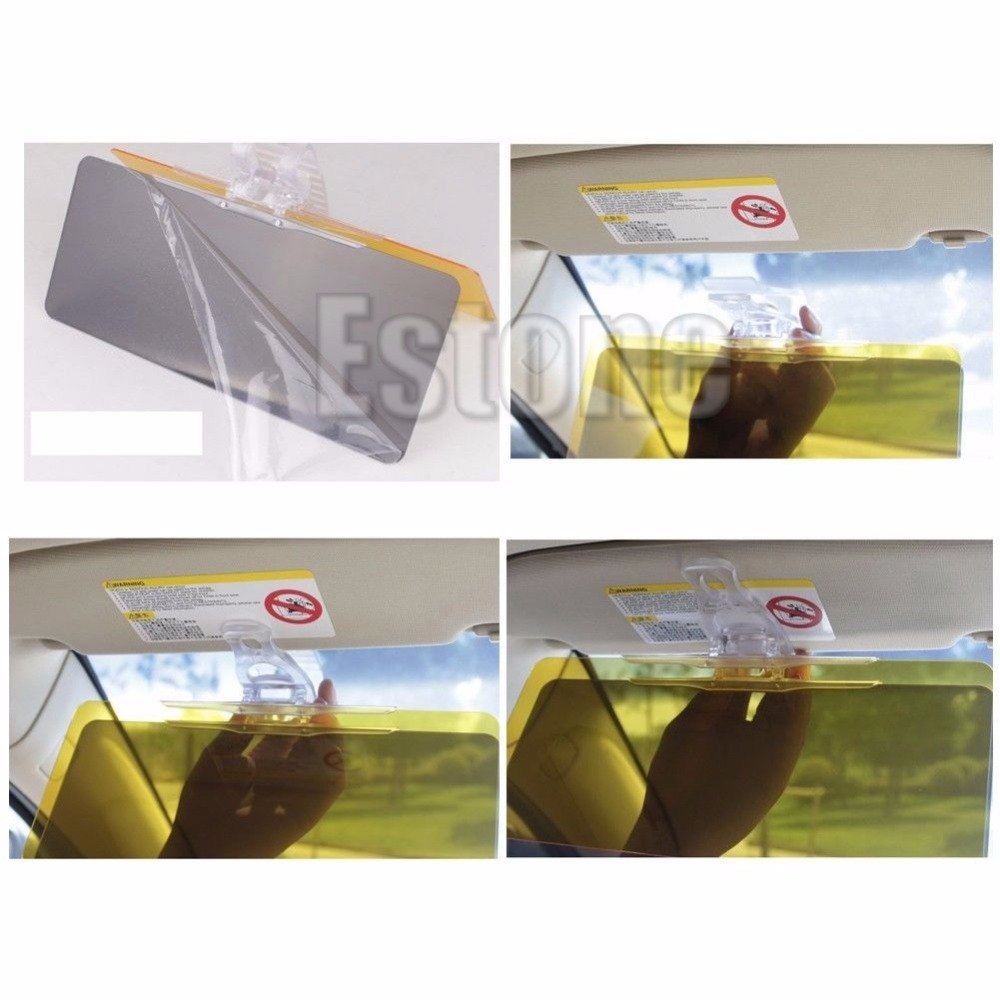 Car Day and Night Goggle Vision Driving Mirror Sun Visors Clip Board