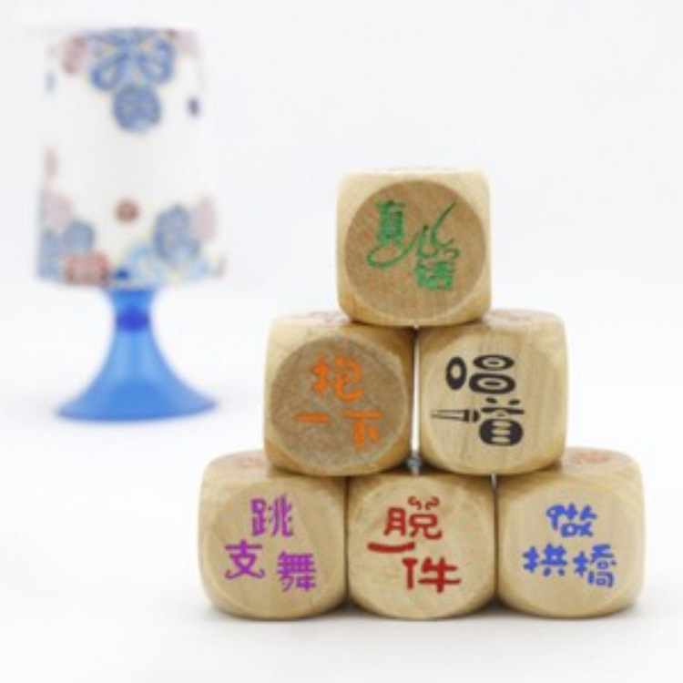 E082 Color Dice Wooden Dice