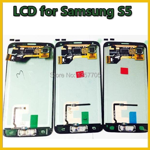 100% Warranty LCD Screen Replacement+Digitizer Touch Display assembly For Samsung Galaxy S5 i9600 G9008V G9006V G9009D Free