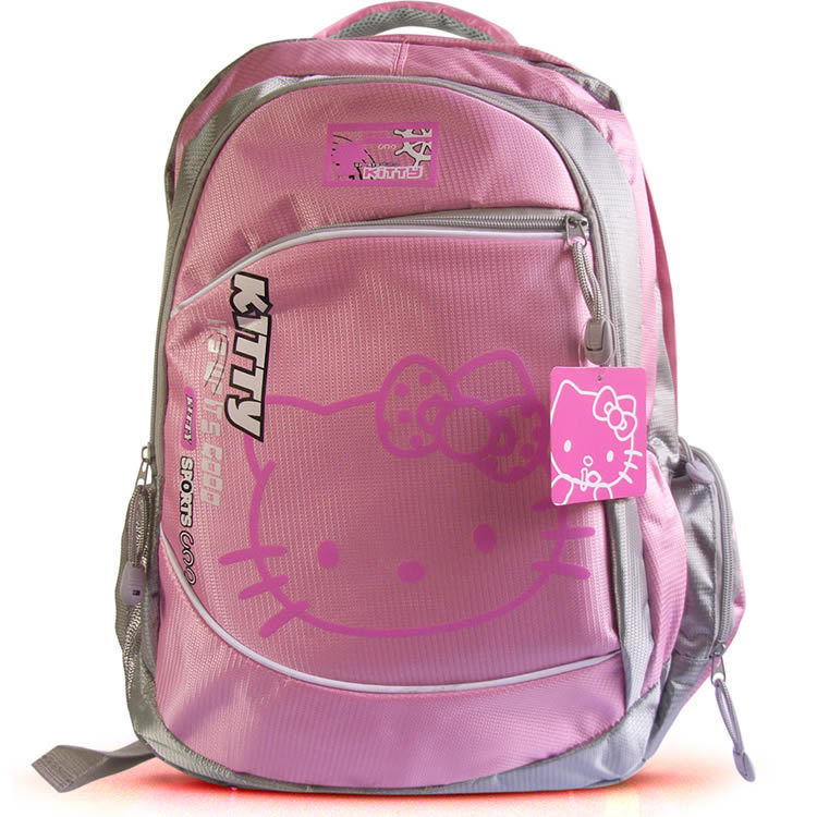 Free shipping 2015 Hot sale hello kitty school bag travelling bag Caroon Satchel for studens Outdoor backpack Fashion backbags(China (Mainland))