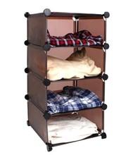 Diy combination shelf resin tablets storage rack wardrobe shoe storage cabinet 4 commode