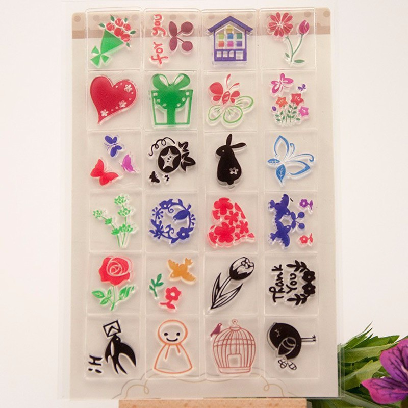 1 sheet Small Animals Transparent Clear Silicone Stamp/Seal for DIY scrapbooking/photo album Decorative clear stamp(China (Mainland))