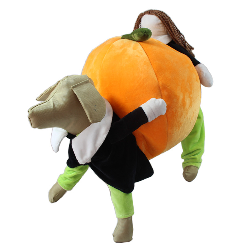 Hot Sale Instagram Move The Pumpkin Dog Costume Novelty Funny Halloween Party Pet Dog Clothes Jumpsuits Large Dog Clothing(China (Mainland))