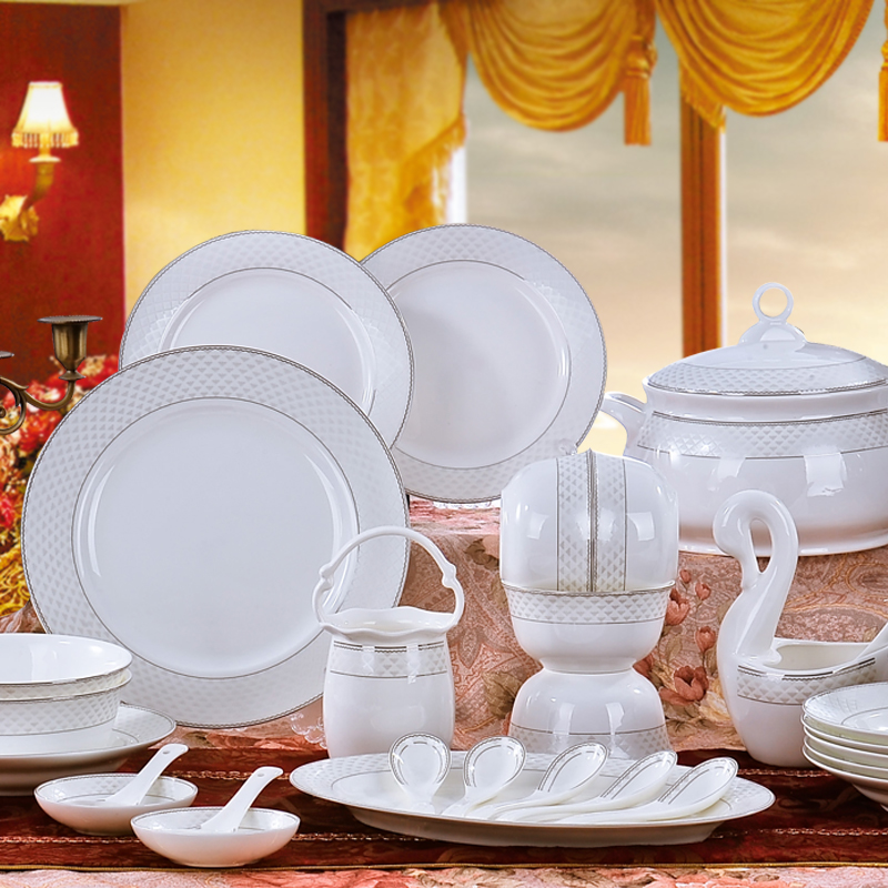 Wedding Gift Dinner Set : china dinnerware set chinese style 56 wedding gift quality dishes set ...