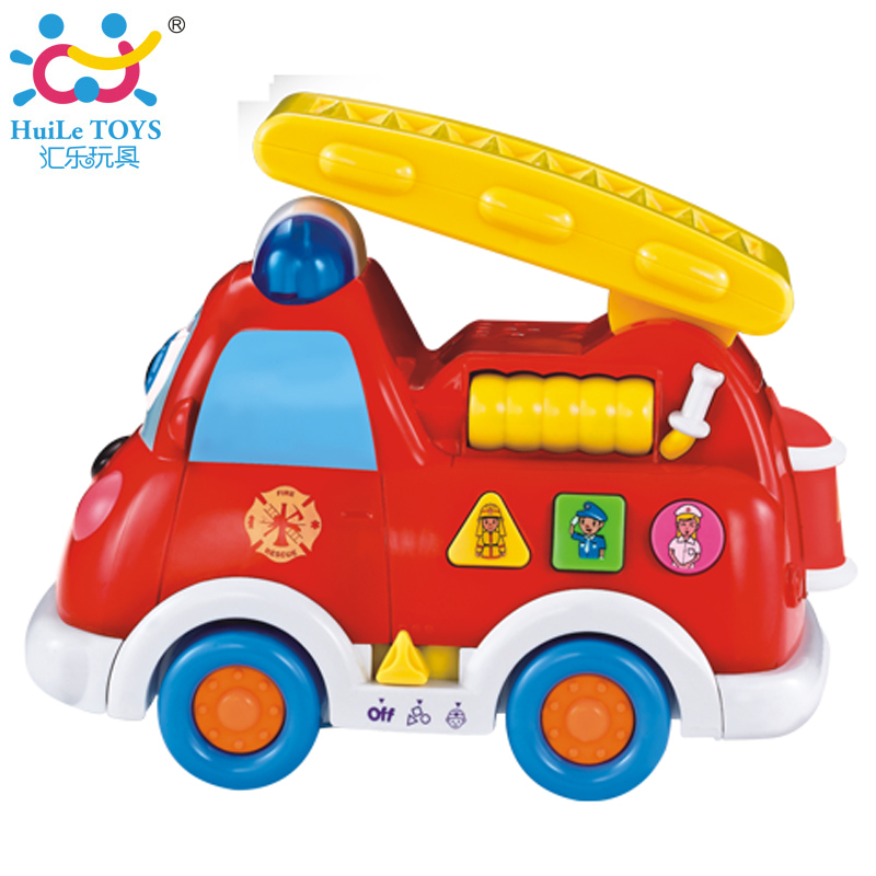 Bilingual Learning & Educational Car 526 B/O Electrical Universal Brinquedos for 12M+ Babies Intellectual Fire Truck Kids Toys(China (Mainland))