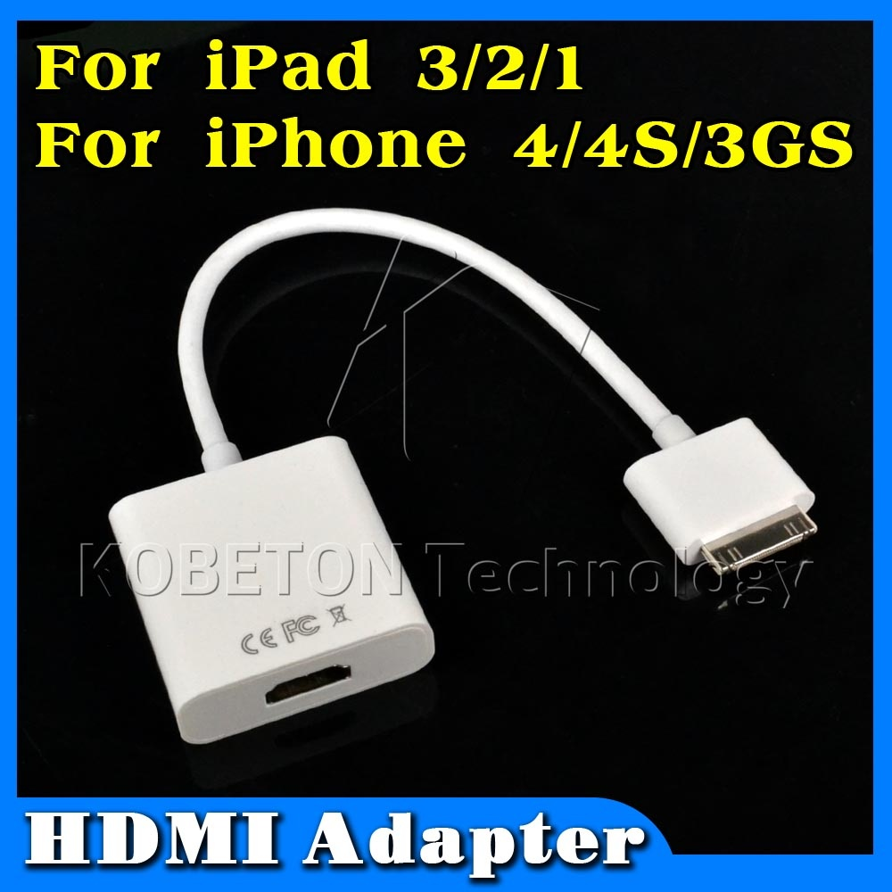 NEW Dock Connector to HDMI Female Adapter Converter Cable for iPad 3 2 1 for iPhone 4 4S for iPod Touch HDTV 1080P(China (Mainland))