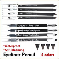 4 Colors Waterproof Anti-blooming Eyeliner Pencil Glitter Make Up Eye Liner Eyeshadow