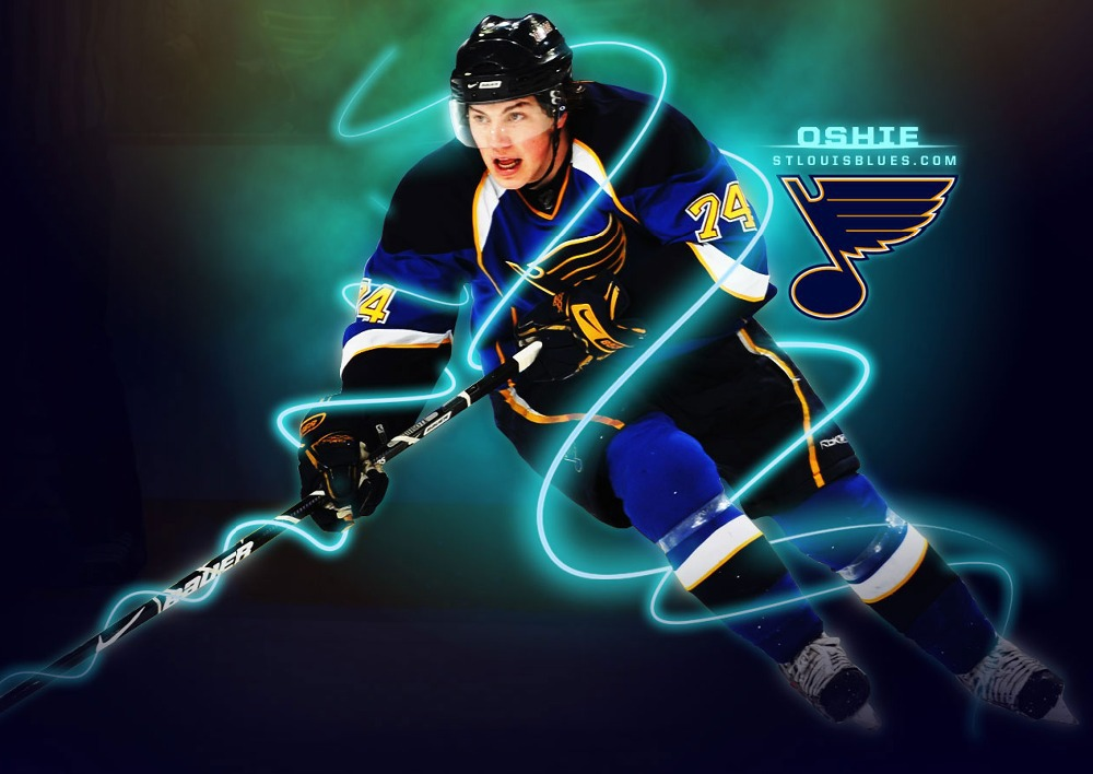 T.J Oshie St Louis Blues Hockey Custom Pillowcase Cover Two Side Picture Size 16x24 Inch(China (Mainland))