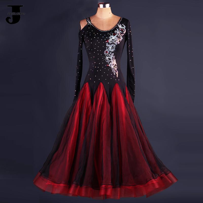 Ballroom Dancing Dress Black/Red Standard Ballroom Dress Stage Costumes For Singers Jazz/Waltz/Tango/Lulu Dance Dress DQ6036(China (Mainland))