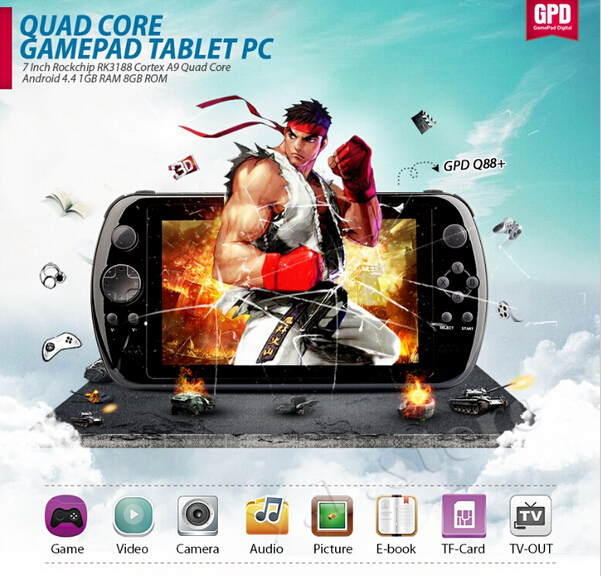 GPD Q88+ 7' Game Tablet PC quad core IPS Android Video Game console Portable Game Player GamePad Handheld game player mp5 player