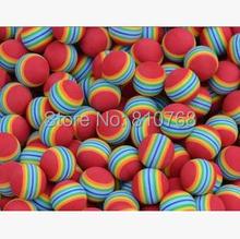 Free Shipping Light-weight Golf Swing Training Aids Indoor Practice Sponge Foam Rainbow Balls#2087(China (Mainland))