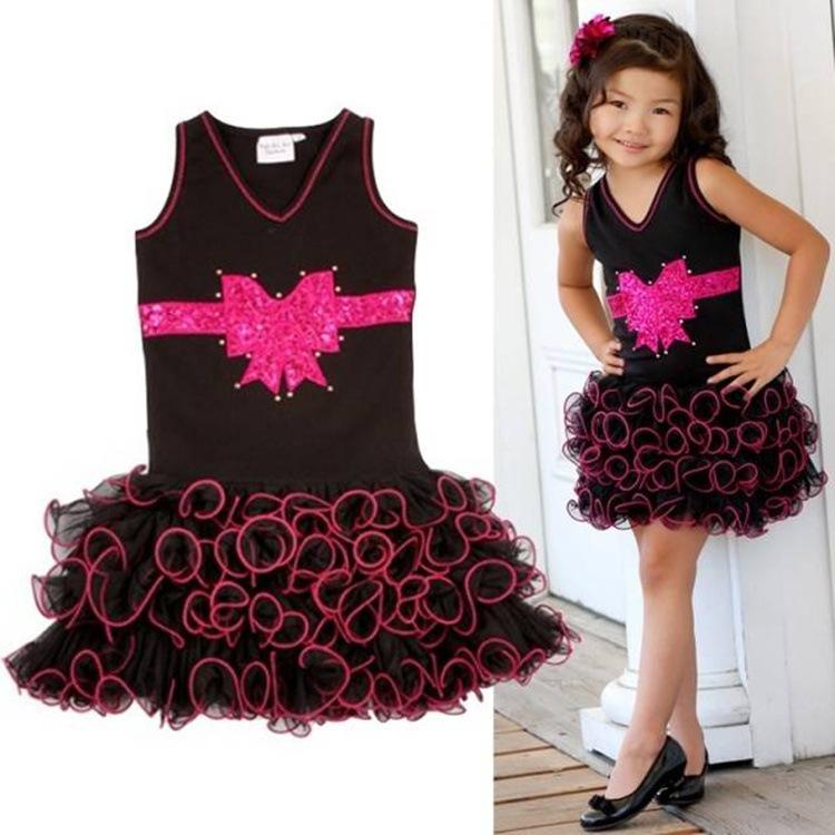 dress baby girl Dance ballet show sport stock