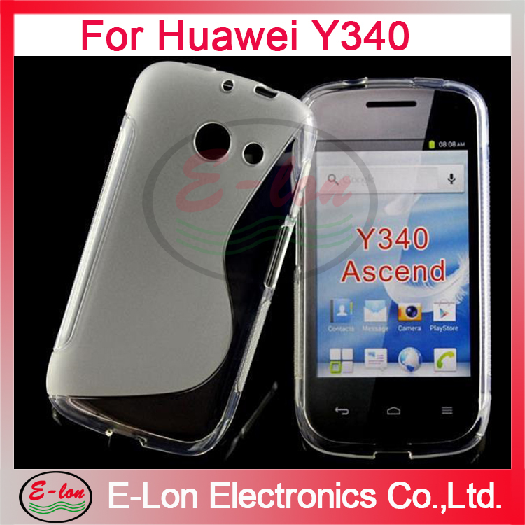 200pcs/lot Wholesale Soft TPU Gel S line Skin Cover Case for Huawei Ascend y340 J050SL(China (Mainland))