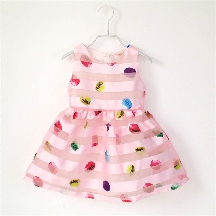 Fashion New Baby Girl Summer Dress Children Kids Striped Candy Colored Sequins Princess Dress(China (Mainland))