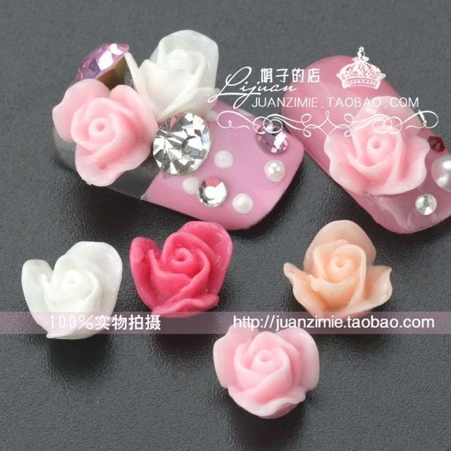 5 10mm nail art sweet resin flower diy false nail sz080 -