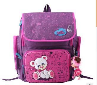 2015 New Winx Mochila Infantil cartoon School Bags Children Orthopedic Backpack Cute Bear Princess High Quality Kids Satchel(China (Mainland))
