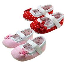 Polka Dot First Walker Baby kids Toddler Shoes infant Spring Autumn Flower Soft Sole Girl Shoes