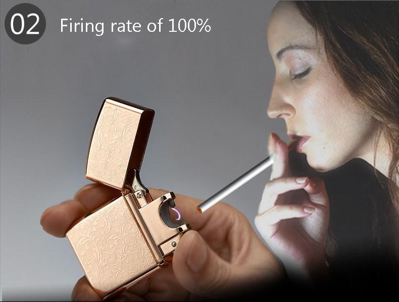 ถูก ใหม่แฟชั่นArc Windproofโลหะบางเฉียบชีพจรชาร์จUsbบุหรี่อิเล็กทรอนิกส์เบาเบาสำหรับผู้ชายของขวัญ