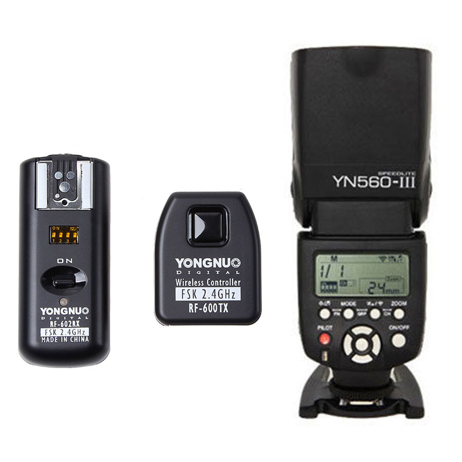 Yongnuo YN-560 III YN560 III Flash Speedlite + RF-602N23 Wireless Remote Flash Trigger Transmitter Receiver For Canon camera(China (Mainland))