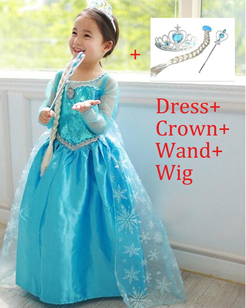 aliexpress buy elsa dress up clothes set