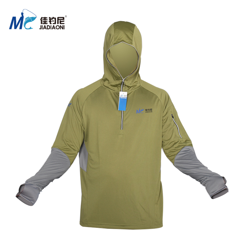 Bamboo fishing clothes sun protection clothing male sun for Uv protection fishing shirts