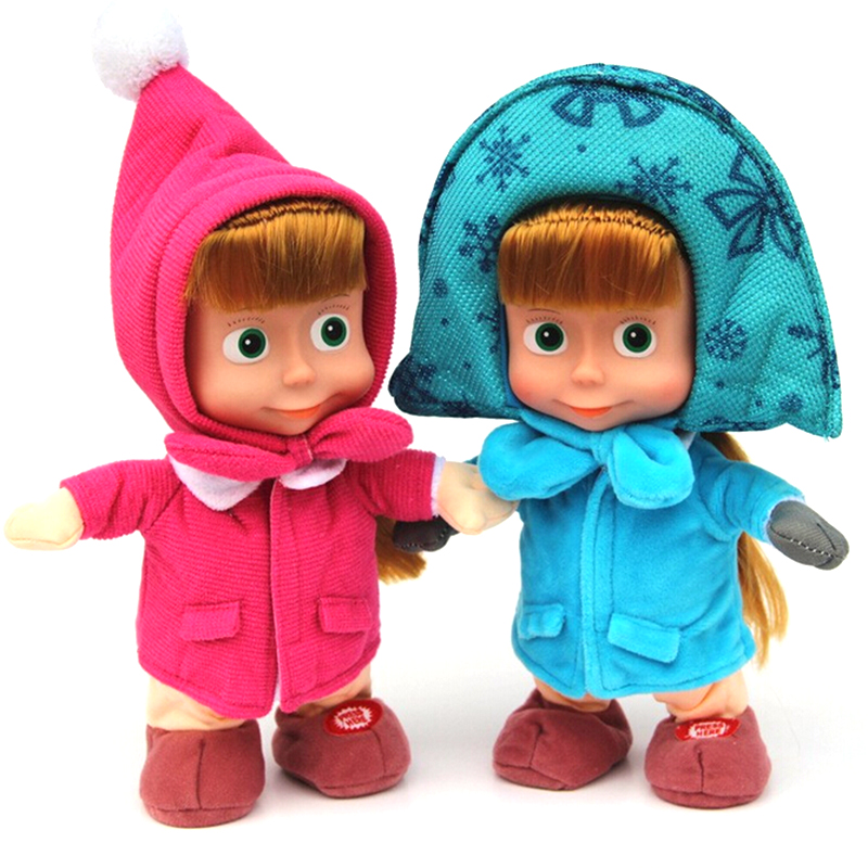 New Arrival Stuffed Animals & Plush Toys Masha And Bear doll Russian Movie Masha plush Toy Dolls For Gifts No Music(China (Mainland))