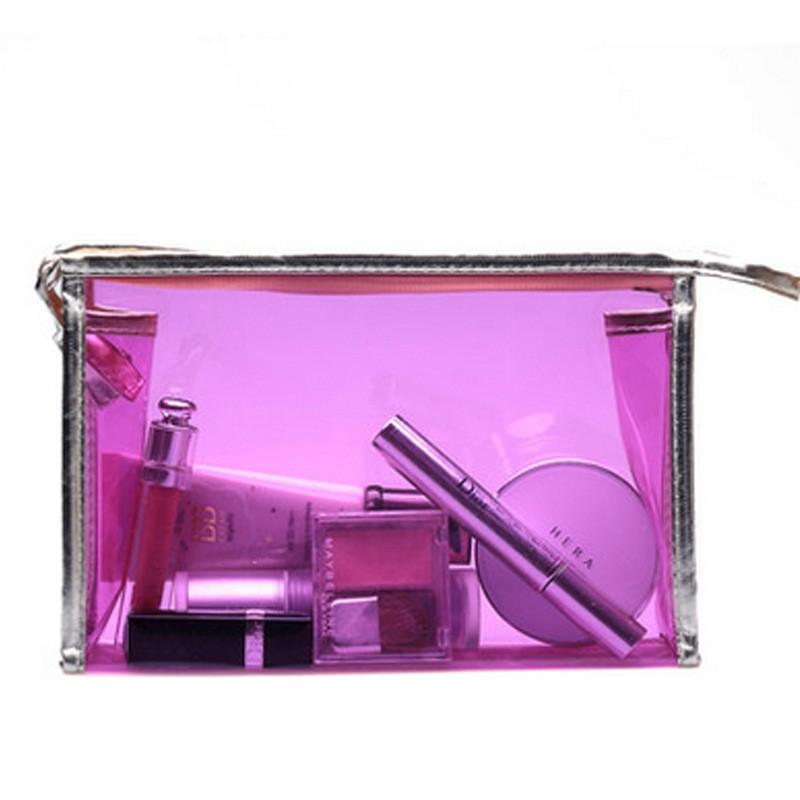 Wash bag waterproof bag jelly color cosmetics bag PVC transparent cosmetic bag(China (Mainland))