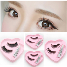1Pair Thick Makeup False Eyelashes + 1piece Eyelash Glue Handmade Long Make-up Eye Lashes Extension Tools Convenient(China (Mainland))