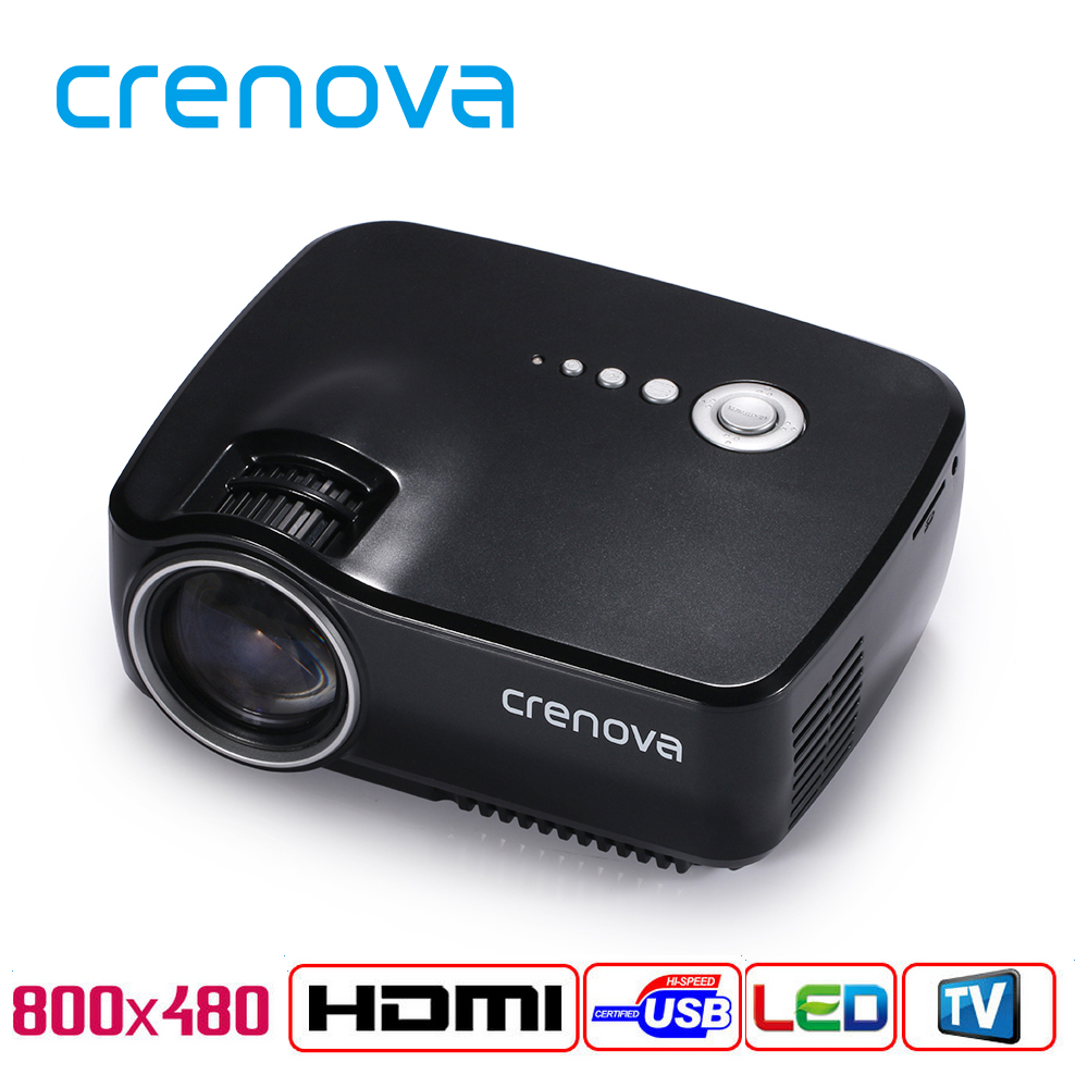 Crenova GP70 LED Projector 1200 Lumens 1080P Portable Multimedia Home Theather Game Video Play with HDMI VGA USB AUDIO Plug(China (Mainland))