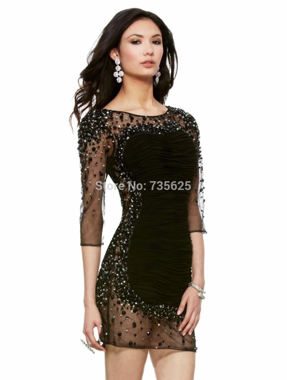 Black Crystal Dress