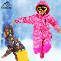 Winter Children Skiing Sets Waterproof Windproof One Piece Jumpsuits Thermal Snowboarding Coverall Breathable Outdoor Sportswear