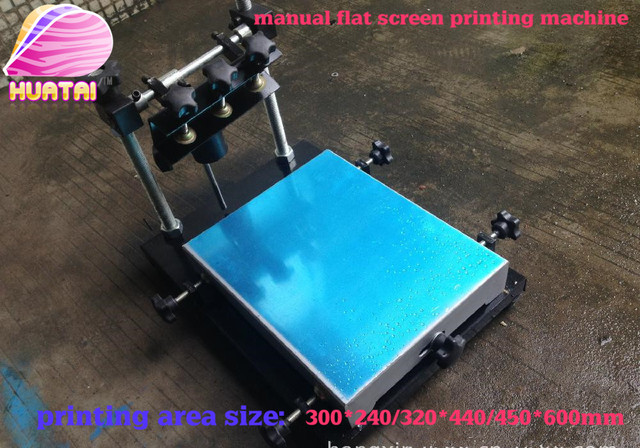 new single color manual flat screen printing machine(40cm*60cm) good quality free shipping with fast delivery