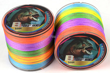 FISHING LINE 1 piece 500M PE BRAID multicolour Thin VERTICAL JIGGING fishing tackle strong pull