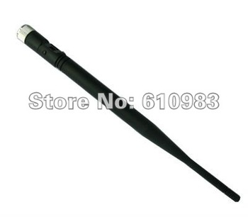 Free shipping (5 pieces/lot) 2.4 GHz 5dBi Omni WIFI Booster Wireless Antenna WLAN SMA connector nickelplated