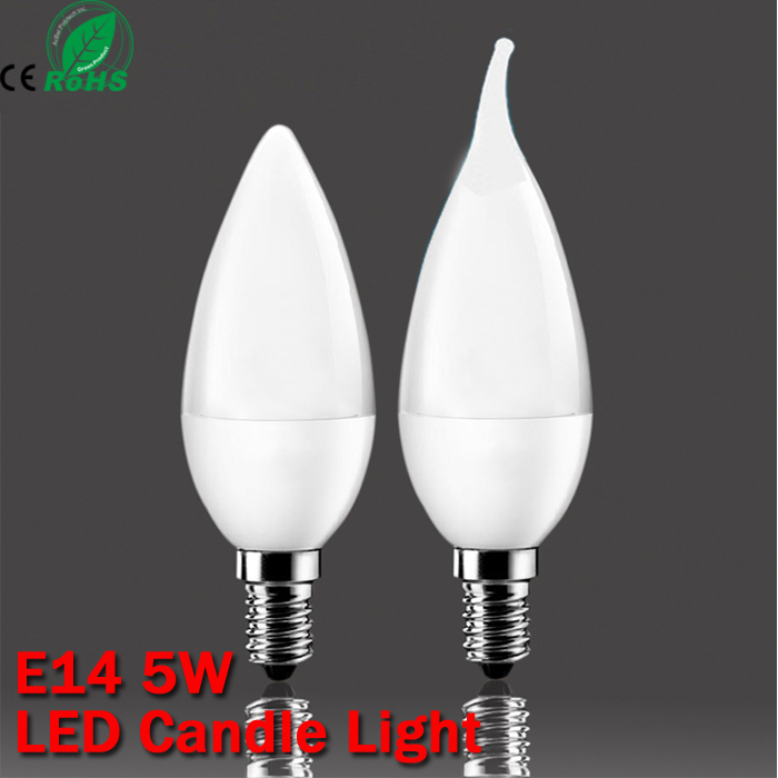 5w SMD 2835 E14 lamp tubes led light Warm White Cold White e 14 led candle 220v led lamp free shipping(China (Mainland))