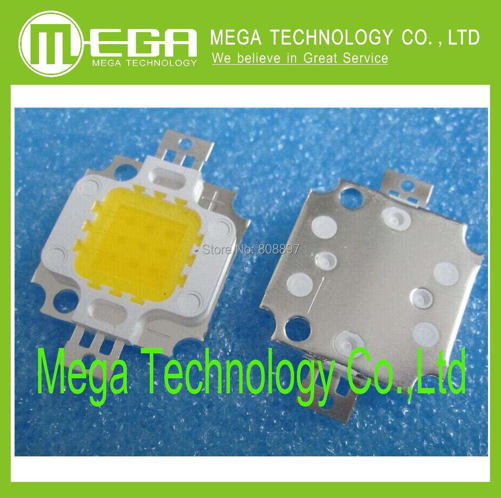 Гаджет  10pcs 10W LED Integrated High power LED Beads White/Warm white 900mA 9.0-12.0V 900-1000LM 24*40mil None Свет и освещение