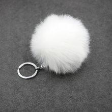 SUTEYI 2017 frete grátis nova moda imitação coelho cabelo bola jóias Charme chaveiro saco chave do carro chaveiro pingente de presente de aniversário(China)