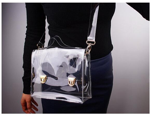 Buy 2016 New Fashion Style Transparent Women Messenger Bags Good Design High