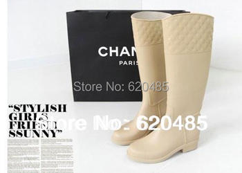 Free shipping 2014 Thin women's fashion rain boots stovepipe tall boots
