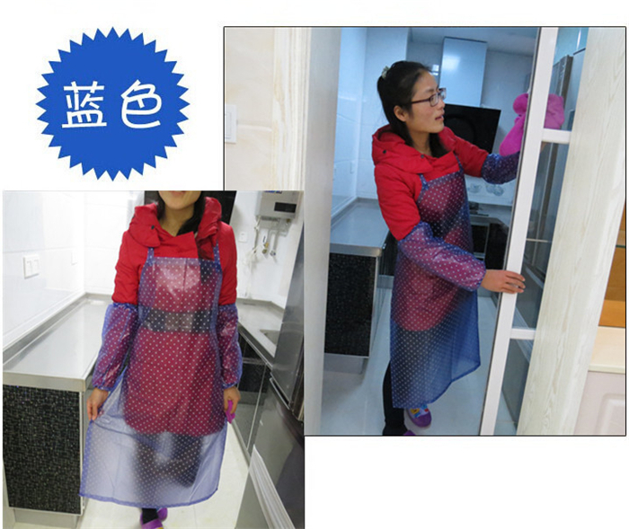 50pcs NEW Women LADIES Sexy Waterproof Sleeved APRON Flowers Vintage Party COOKING Kitchen apron DRESS Apron +Sleevelet(China (Mainland))